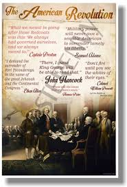 American Revolution Quotes Amazing Quotes Of The American Revolution NEW Social Studies POSTER Ss48