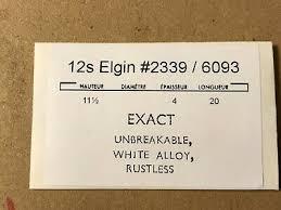 Elgin Mainspring Chart Elgin 12s Mainspring 2339 6093 Exact Alloy
