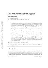 kinetic energy preserving and entropy le finite volume schemes for compressible euler and navier stokes equations pdf available