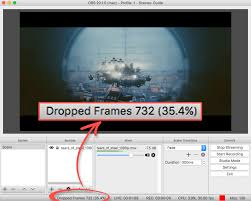 how to stop dropped frames in obs open