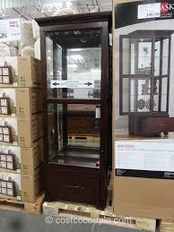 costco glass display cabinet curio lighted pulaski furniture hayden curio cabinet