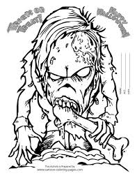 Small Picture Halloween Scary Coloring Pages Halloween Coloring Pages Free