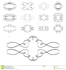 Calligraphy Design Elements, Ornaments Page Templates Labels Stock ...