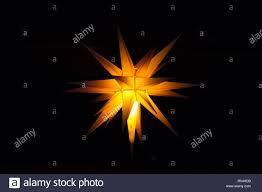 Hernnhuter Stern Weihnachten Dekoration Stockfoto Bild
