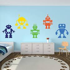 robots vinyl wall stickers
