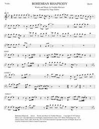 Bohemian rhapsody piano sheet music created date: Bohemian Rhapsody Violin Sheet Music To Download And Print