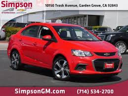 dealership photos 2017 chevrolet sonic vehicle photo in garden grove ca 92843