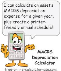 macrs 7 year macrs depreciation calculator based on irs publication 946
