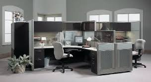modern office cubicle. L Shape With Hutch Modern Office Cubicle