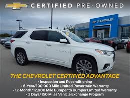 certified pre owned 2018 chevrolet traverse premier