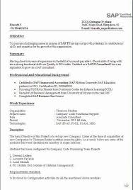 years experience resumes sap bi sample resume for 2 years experience fresh sap bi resume