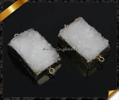 fashion natural druzy jewelry connector druzy stone whole ef011 4
