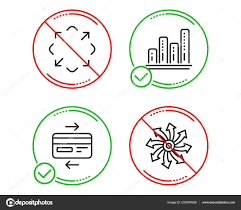 Stop Graph Chart Credit Card Maximize Icons Simple Set