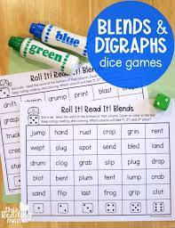 Sounds and phonics worksheets for preschool and kindergarten, including beginning sounds, consonants, vowels and rhyming. Phonics Dice Games For Blends And Digraphs This Reading Mama