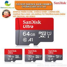 Thẻ Nhớ Sandick Ultra A1 64GB 80MB/s Chuẩn Class10 U1 - Bảo Hành 12 Tháng  Thế giới điện máy - đại lý xiaomi chính hãng tại Việt Nam