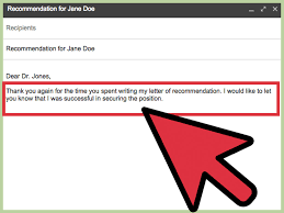 Best Ideas Of How To Write A Letter Of Recommendation Request