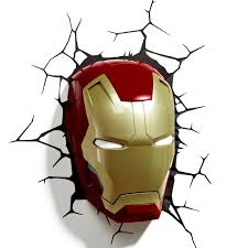 Avengers Assemble Night Light Iron Man 3 Mask 3d Deco Light This Is A Great Design And A