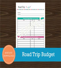 Road Trip Budget Template 10 Vacation Budget Template Free Sample Example Format