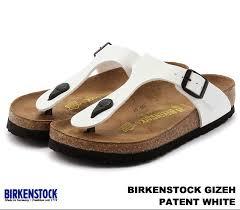 birkenstock and birkenstock gizeh 543761 guise white patent enamel white patent enamel leather width