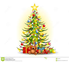 christmas tree with presents and lights clip art. Christmas Tree Gifts Clip Art In With Presents And Lights Dreamstimecom