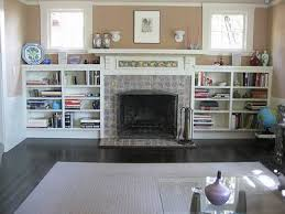 bookcases next to fireplace stunning shelving design decoration home