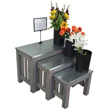 Flower Display Stands Wholesale Retail Floral Merchandising Floral Display Racks Nesting Tables 59