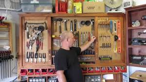 Hanging Tool Cabinet With Sliding Doors Youtube