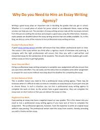 Why Do You Need To Hire An Essay Writing Agency By Kinsley Verk Issuu