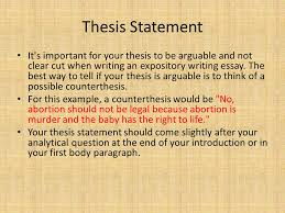 how to successfully write an expository essay ms  williams english    thesis statement it    s important for your thesis to be arguable and not clear cut when writing
