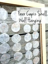 faux shell wall hanging seashell art decor white