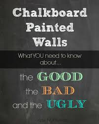 chalkboard painted wall. Review of the paint as a decorative idea in the  kitchen,