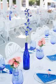 {Cobalt Blue and Coral} Virginia Wedding