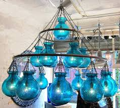 egyptian handblown chandelier with large nile blue glass globes blue glass chandelier blue glass chandelier drops