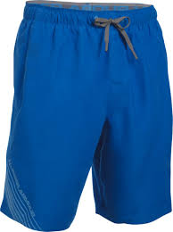 under armour mens shorts. under armour mens mania volley short thumb 6 - blue marker/graphite/water shorts