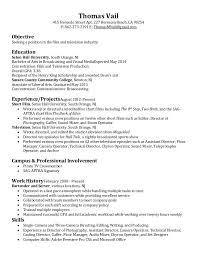 film resume samples film television resume