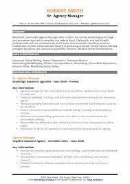 Agency Manager Resume Samples Qwikresume
