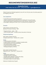 Er Nurse Resume Sample Student Help Career Pinterest