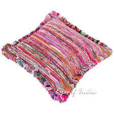 purple chindi rag rug sofa throw colorful floor meditation pillow cushion bohemian boho cover 24