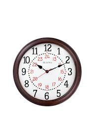 bulova c4841 station master wood wall clock