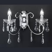 Glas Kristall Wandlampe 2 Flammig