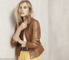a soft tan leather jacket for 249 shows leather pieces are a huge part of