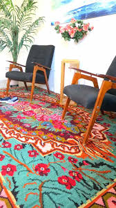 kitchen outstanding orange and turquoise rug maslinovoulje intended for area modern sheepskin rugs mid century square