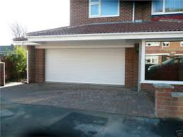 remote control white insulated roller shutter garage door with safety edge