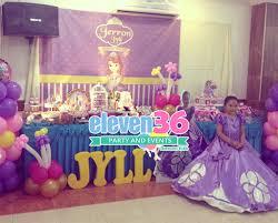 Princess Balloon Decoration Jerron Jylls Princess Sofia Theme Party 102215 Eleven36