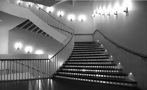 stairwell lighting fixtures on stairs