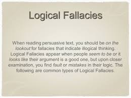 logical fallacies rhetorical devices english ii ppt 2 logical fallacies