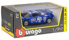 Bugatti eb 110, dunkelblau, heckspoiler oben, 1:18, bburago. Amazon Com Bburago Bugatti Eb110 Super Sport 34 Race 1994 Blue 28010 1 24 Scale Diecast Model Toy Car Toys Games