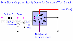 to steady output turn signal output to steady output for duration pulsed to steady output turn signal output to steady output for duration of turn signal