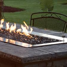 White Mountain Hearth By Empire Glass Wind Deflector Kit For 60 Inch Outdoor Linear Fire Pits Bbqguys