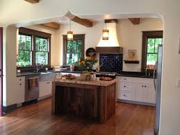 Small Kitchen Flooring Picture Of Dark Brown Barnwood Flooring For Small Kitchen